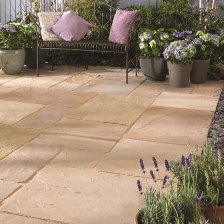Bradstone Antique Natural Sandstone Paving Sunset Buff Reviews