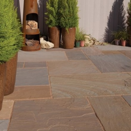 Bradstone Blended Natural Sandstone Paving Rustic Buff