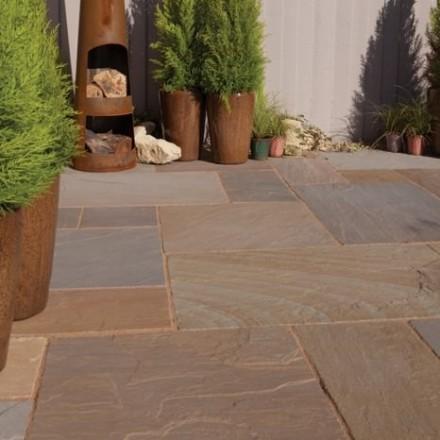 Bradstone Blended Natural Sandstone Paving Rustic Buff