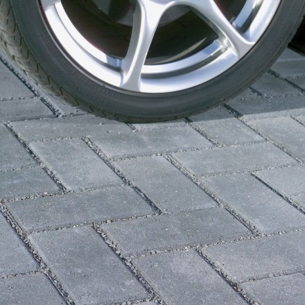 Bradstone Driveway Infilta Permeable Block Paving Charcoal