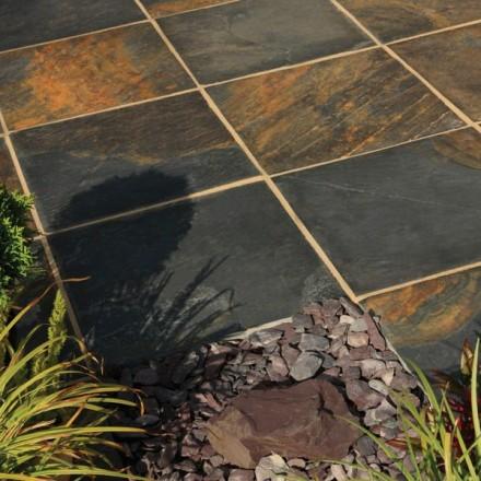 Bradstone Natural Slate Paving Vijaya Gold
