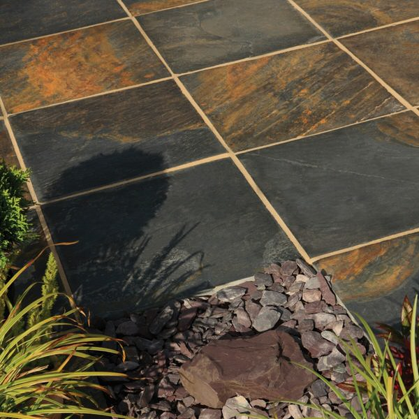 Bradstone Natural Slate Paving Vijaya Gold