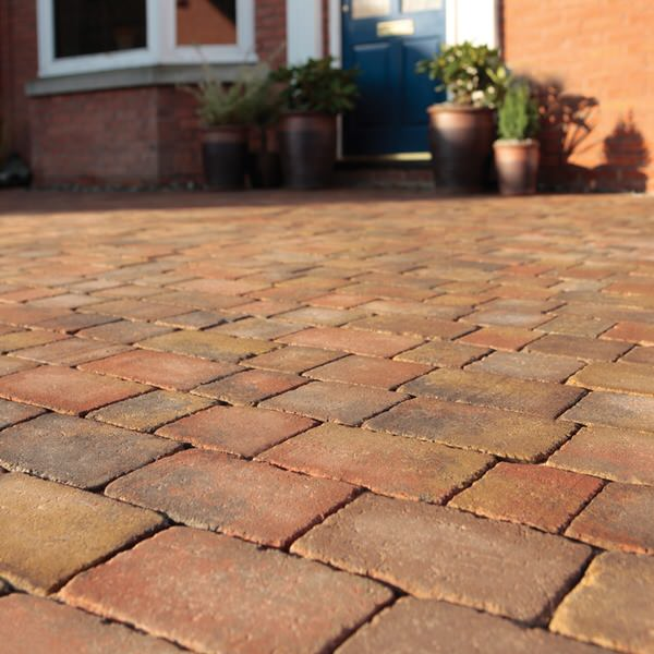 Bradstone Woburn Rumbled Block Paving Autumn